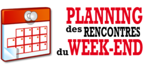 Planning du we des 31 mars et 01 avril 2018.