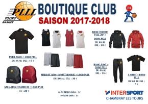 La Boutique Saison 2017-2018 est en ligne!