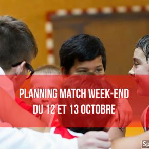 Les Matchs du Weekend du 12 et 13 Octobre2019