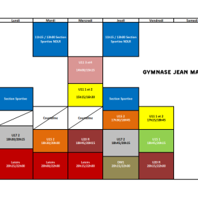 Planning Prévisionnel Saison2020/2021