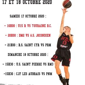 Les Matchs du 17 et 18 Octobre2020