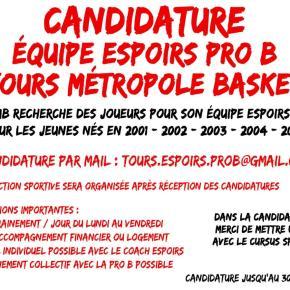 Candidature Espoir Pro B, En Route Vers une Nouvelle Aventure!