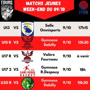 Matchs Jeunes du 9 Octobre2021